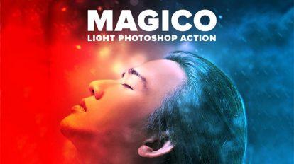 اکشن فتوشاپ نور جادویی Magico Light