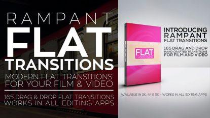 مجموعه ویدیوی موشن گرافیک ترانزیشن فلت Rampant Flat Transitions