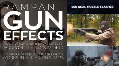 مجموعه فوتیج ویدیویی نور شلیک گلوله Rampant Gun Effects