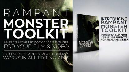 مجموعه تکسچر اعضای بدن Rampant Monster Toolkit