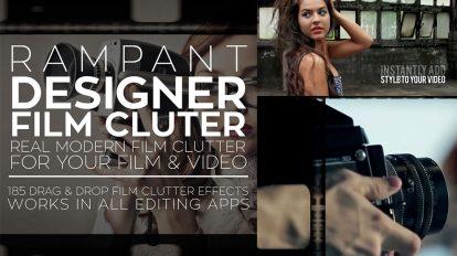مجموعه فوتیج ویدیویی افکت فیلم Rampant Designer Film Clutter