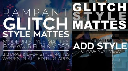 مجموعه موشن گرافیک مت ویدیویی Rampant Glitch Style Mattes