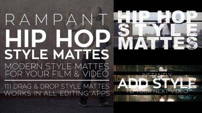 مجموعه موشن گرافیک مت ویدیویی Rampant Hip Hop Style Mattes