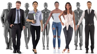 مجموعه مدل سه بعدی انسان RenderPeople Human