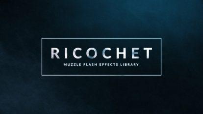 مجموعه فوتیج نور فلش و دود شلیک اسلحه Ricochet