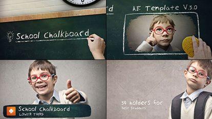 پروژه افترافکت افتتاحیه با تخته سیاه مدرسه School Chalkboard