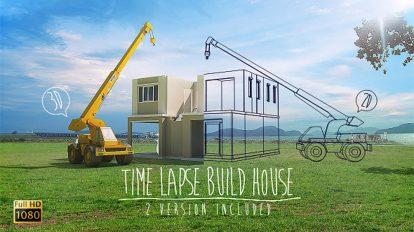 مجموعه فوتیج تایم لپس ساخت و ساز خانه