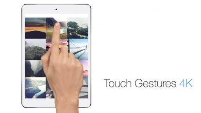 پروژه افترافکت مجموعه ژست تاچ اسکرین Touch Gestures 4K
