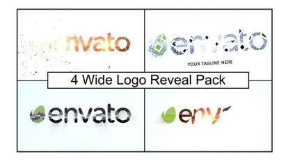 پروژه افترافکت نمایش لوگو Wide Logo Reveal Pack