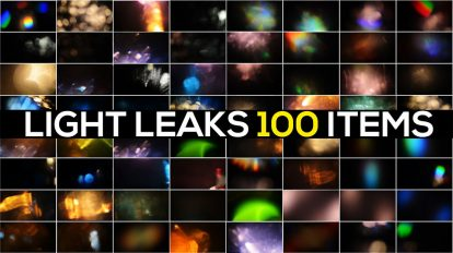 مجموعه موشن گرافیک 100 افکت نشتی نور Light Leaks Pack