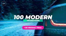 پروژه افترافکت مجموعه 100 ترانزیشن مدرن Modern Transitions