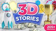 پروژه افترافکت مجموعه آیکون سه بعدی برای تیزر تبلیغاتی 3D Stories