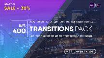 پروژه افترافکت مجموعه 400 ترانزیشن Transitions Pack