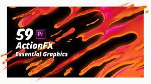 پروژه پریمیر افکت کارتونی آب و آتش و دود ActionFX