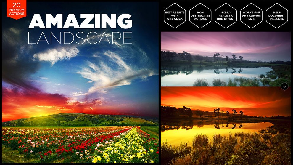 اکشن فتوشاپ منظره و چشم انداز Amazing Landscape
