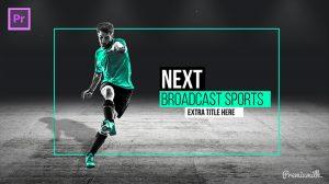 پروژه پریمیر مجموعه اجزای ویدیویی برودکست ورزشی