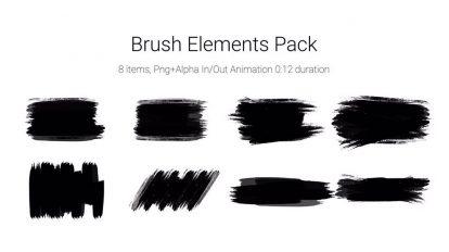 مجموعه ویدیوی موشن گرافیک قلم نقاشی Brush Elements Pack