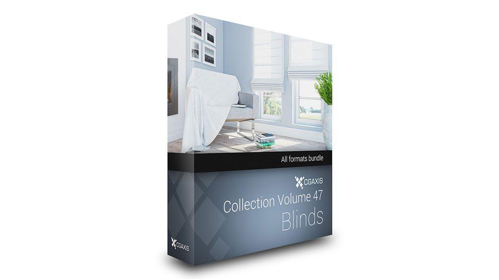 مجموعه مدل سه بعدی پرده CGAxis Models Volume 47 Blinds