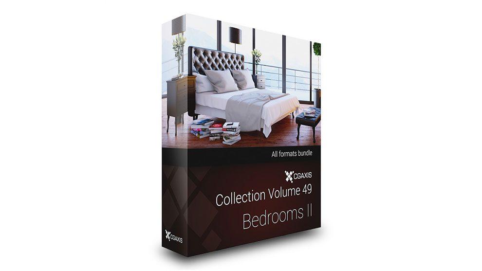 مجموعه مدل سه بعدی وسایل اتاق خواب CGAxis Models 49 Bedrooms ii