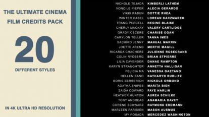 پروژه افترافکت عناوین فیلم سینمایی Cinema Film Credits Pack