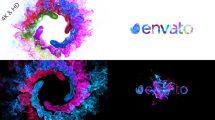 پروژه افترافکت نمایش لوگو با چرخش دود رنگی Colors of Particles