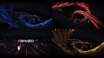 پروژه افترافکت نمایش لوگو با مارپیچ روبان Digital Wire Ribbon