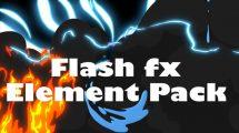 مجموعه ویدیوی موشن گرافیک افکت کارتونی Flash FX Element Pack