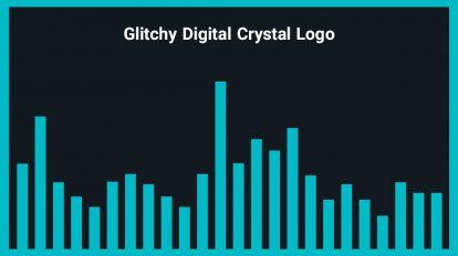 موزیک زمینه لوگو با افکت گلیچ Glitchy Digital Crystal Logo