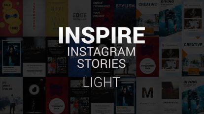 پروژه افترافکت مجموعه استوری اینستاگرام Inspire Instagram Stories Light