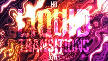 مجموعه ویدیوی موشن گرافیک ترانزیشن سیال Liquid Transitions