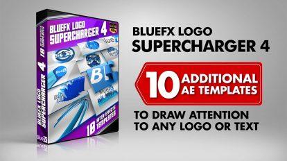 پروژه افترافکت مجموعه نمایش لوگو Logo Supercharger 4
