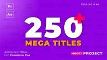 پروژه پریمیر 250 انیمیشن عنوان Mogrt Titles