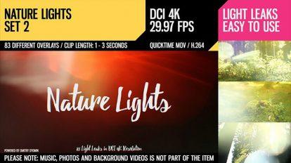 مجموعه موشن گرافیک افکت نور طبیعی Nature Lights Set 2