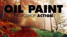 اکشن فتوشاپ افکت نقاشی رنگ روغن Oil Paint