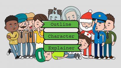 پروژه افترافکت تیزر تبلیغاتی کاراکتر Outline Character Explainer Toolkit