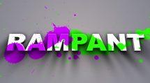 پروژه افترافکت نمایش لوگو با پاشیدن رنگ Rampant Paint Splatter