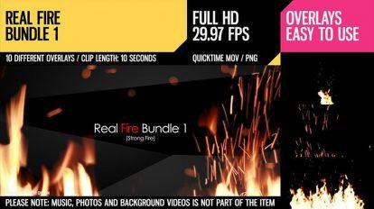 مجموعه ویدیوی موشن گرافیک آتش واقعی Real Fire Bundle 1