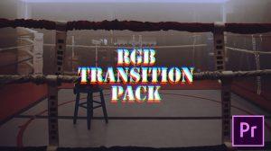 پروژه پریمیر مجموعه ترانزیشن گلیچ RGB Transitions Pack
