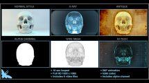 مجموعه ویدیوی موشن گرافیک جمجمه انسان Skull Loop Pack