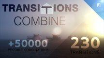 پروژه افترافکت مجموعه 230 ترانزیشن Transitions Combine