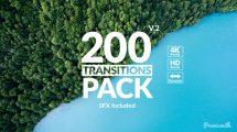پروژه افترافکت مجموعه 200 ترانزیشن Transitions Pack