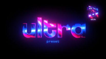 پریست افترافکت ساخت افکت فلش نور Ultra Preset