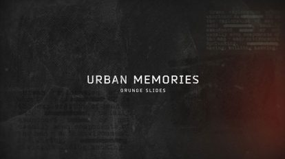 پروژه افترافکت افتتاحیه گرانج Urban Memories Grunge Slides