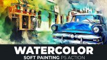 اکشن فتوشاپ افکت نقاشی آبرنگ Watercolor Soft Painting