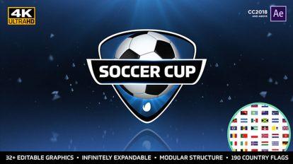 پروژه افترافکت برودکست جام جهانی فوتبال World Soccer Cup