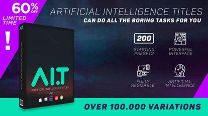 اسکریپت افترافکت نمایش عناوین Artificial Intelligence Titles