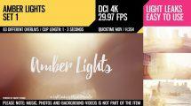 مجموعه ویدیوی موشن گرافیک افکت نور Amber Lights Set 1