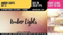 مجموعه ویدیوی موشن گرافیک افکت نور Amber Lights Set 2