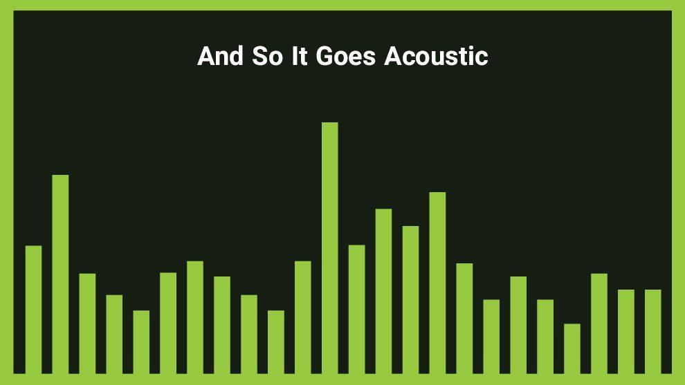 موزیک زمینه آکوستیک عاشقانه And So It Goes Acoustic
