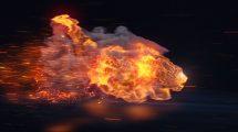 پروژه افترافکت نمایش لوگو با شیر آتشین Apex Predator Lion Reveal